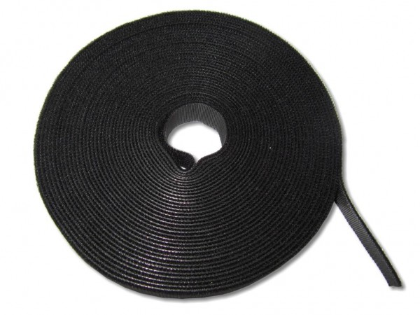 Klettband Rolle 10m schwarz Kabelbinder