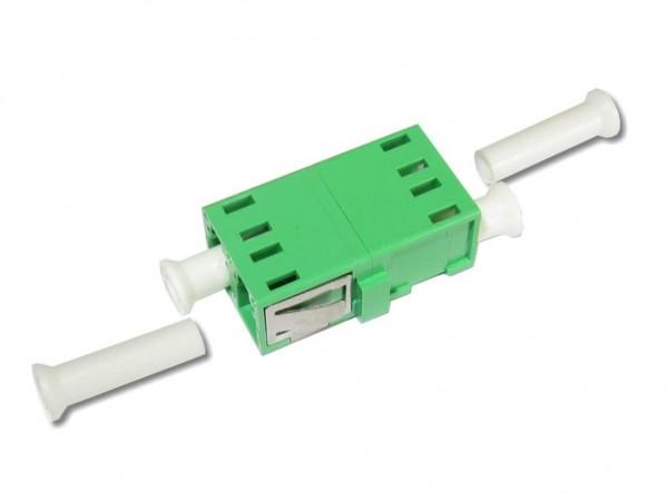 LC/APC duplex LWL Glasfaser-Kupplung singlemode ohne Flansch