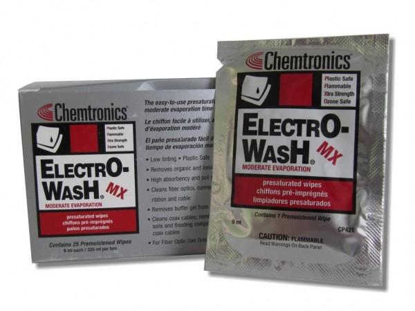 CP421 Electro-Wash getränkte Reinigungstücher zur LWL-Reinigung (25er Pack)