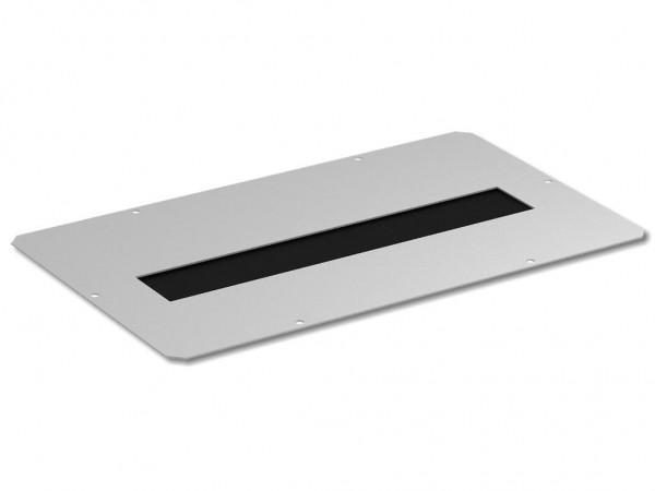 Abdeckplatte f. Dach/Boden 380x210 mit Bürstenleiste-