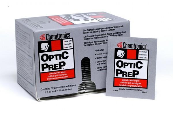 Optic Prep getränkte Reinigungstücher für Linsen und optische Oberflächen (50er Pack)