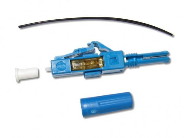 feldkonfektionierbarer LWL LC Stecker singlemode für 250µm Faser oder 0,9mm Ader