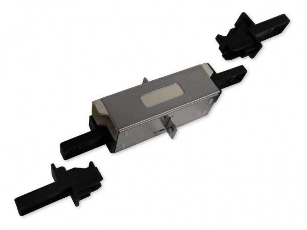 LSH (E-2000®) duplex compact LWL Kupplung multimode beige (Fabr. Huber & Suhner)