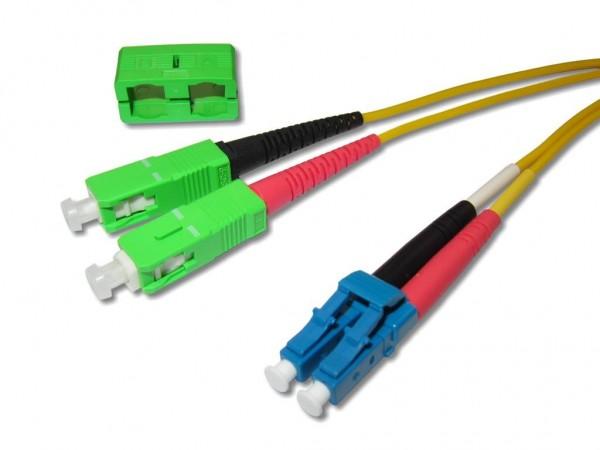 SC/APC-LC/PC duplex LWL Patchkabel 9/125µm G.657A1
