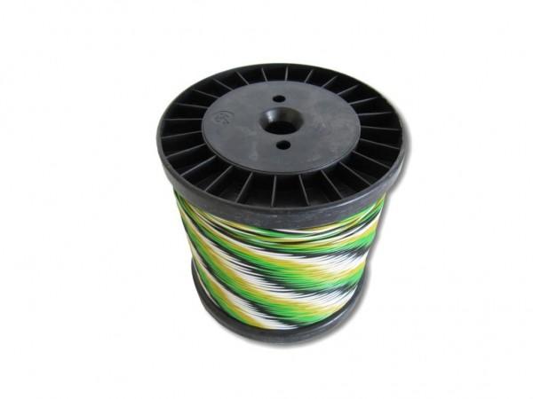 Schalt- Rangierdraht YV-Draht 4x0,6mm weiß/schwarz/grün/gelb, 100m Spule