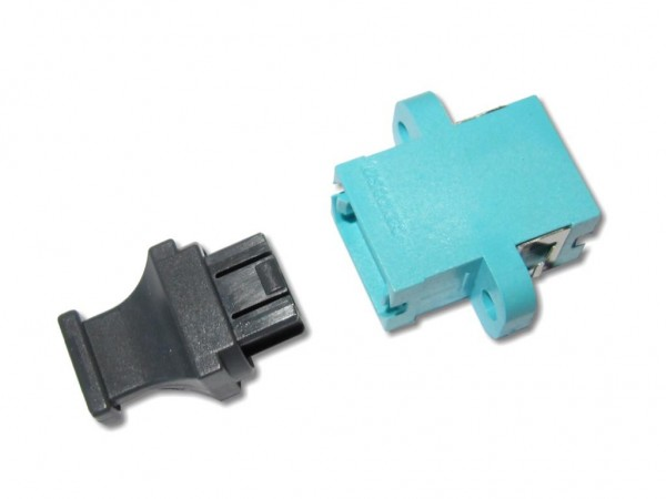MTP / MPO simplex Kupplung OM3 Aqua