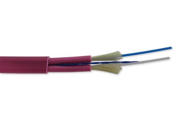 LWL Duplexkabel figure-0 multimode I-V(ZN)HH 2G50/125µm OM4 erikaviolett 2.0mm