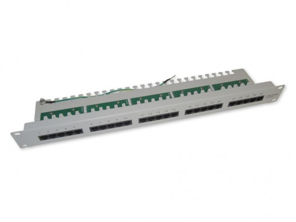 "19"" 25 Port ISDN Patchpanel 1 HE Panel"