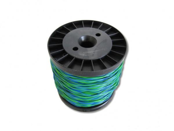 Schalt- Rangierdraht YV-Draht 2x0,6mm blau/grün, 100m Spule   YV ...