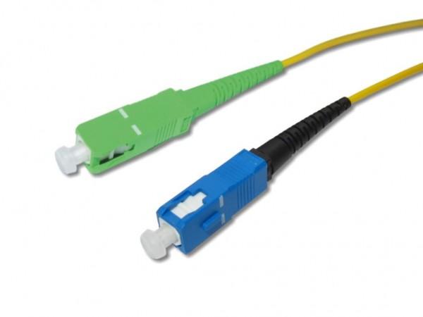 SC/APC 8° - SC/PC simplex LWL Patchkabel 9/125µm G.657A1