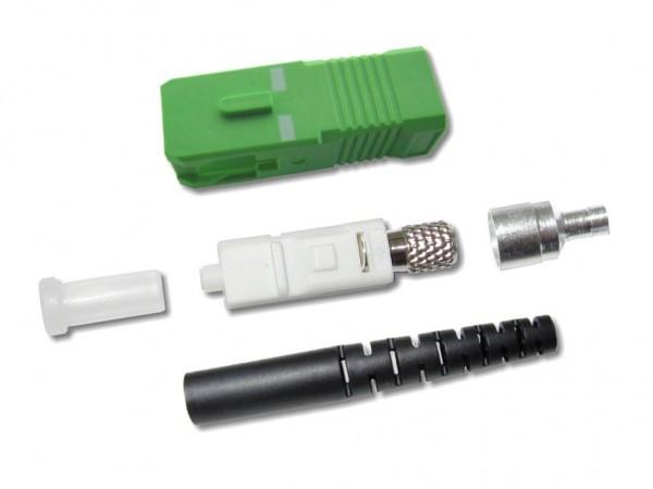 SC/APC Stecker singlemode 2mm schwarz