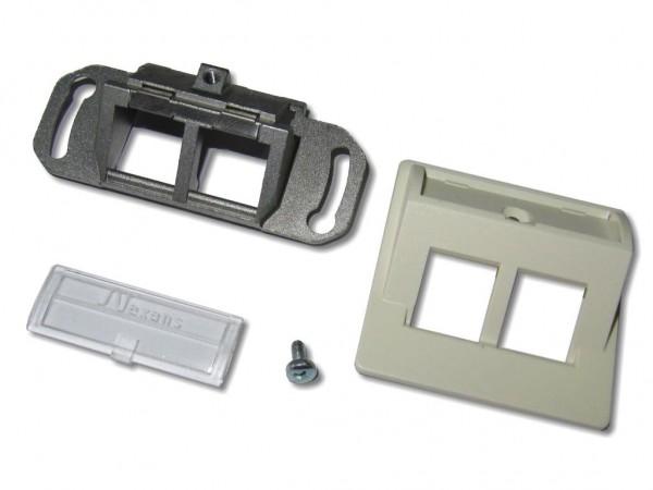 Nexans N423.671N kurze Dose 50 RAL1013 für Brüstungskanäle