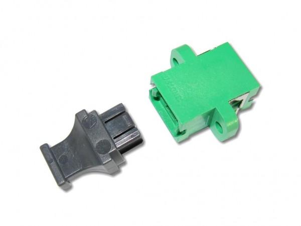 MTP / MPO simplex APC Kupplung singlemode grün