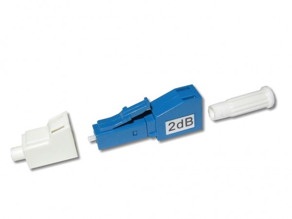 LC singlemode LWL Dämpfungsglied / attenuator 2dB