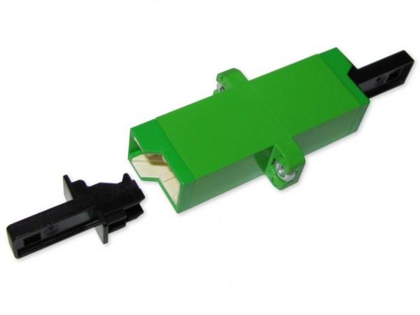 LSH/APC (E-2000® HRL) simplex LWL Kupplung singlemode (Fabr. Huber & Suhner)