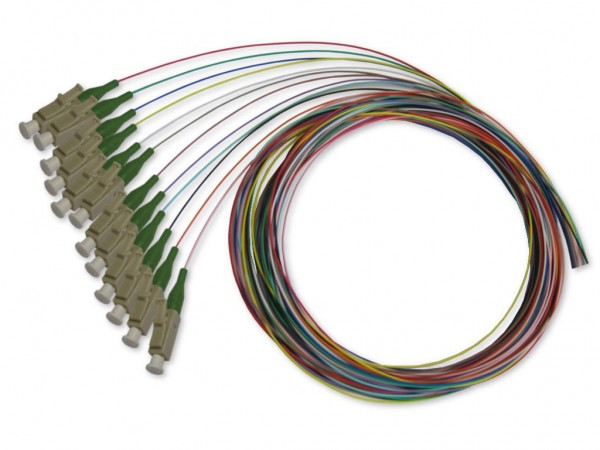 LC-Pigtail multimode 50/125µm OM3, 2m, 12 farbig