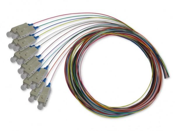 SC Pigtail multimode 62,5/125µm, 2m, 12 farbig