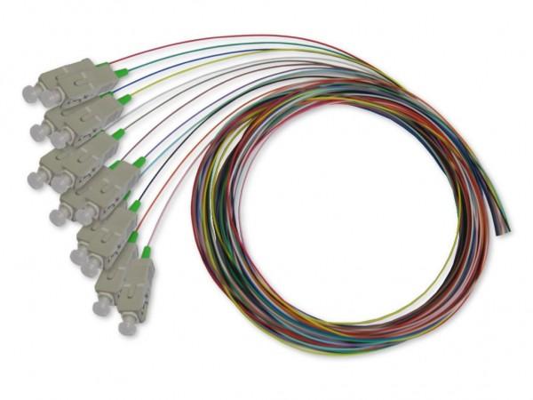 SC-Pigtail multimode 50/125µm OM3, 2m, 12 farbig