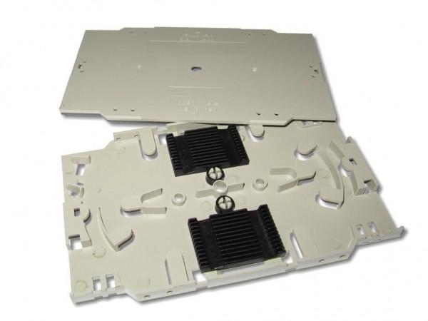 LWL Spleißkassetten Set 24 Fasern inkl. 2xSpleißhalter für Crimpspleißschutz & Deckel