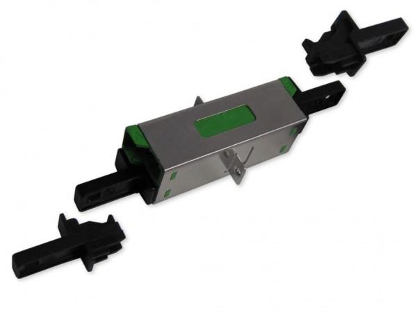 E2000/APC duplex compact Kupplung singlemode H&S grün