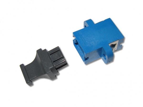 MTP / MPO simplex Kupplung singlemode blau