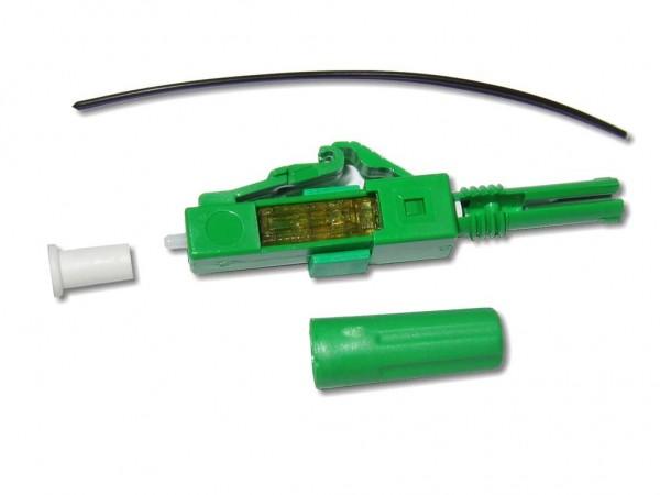 feldkonfektionierbarer LWL LC/APC 8° Stecker singlemode für 250µm Faser oder 0,9mm Ader