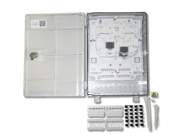 LWL FTTH Wandverteiler IP54 für 48 Fasern und 12 simplex duplex oder Quad Kupplungen