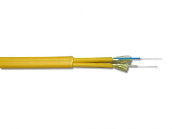LWL duplex Kabel singlemode I-V(ZN)HH 2E9/125µm OS2 gelb figure-0 2.8mm