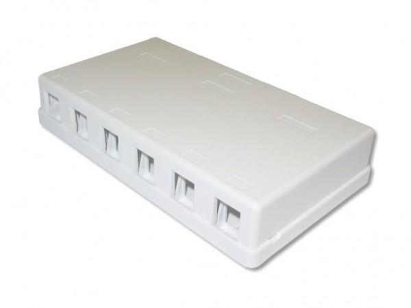 Consolidation Point Wandbox für 6 RJ45 Keystone Module