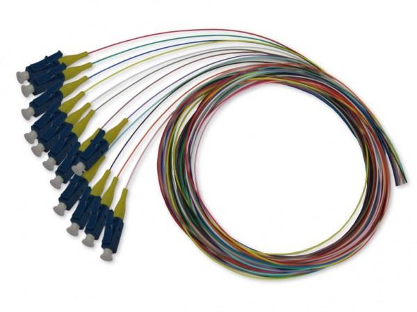 LWL LC-Pigtail singlemode 9/125µm OS2, 2m, 12 farbig