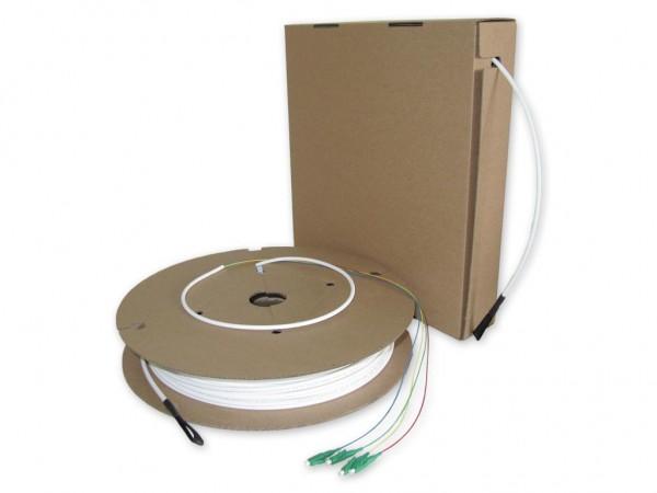 FTTH Drop Kabel auf Spule Pizzabox konfektioniert 4 LC APC