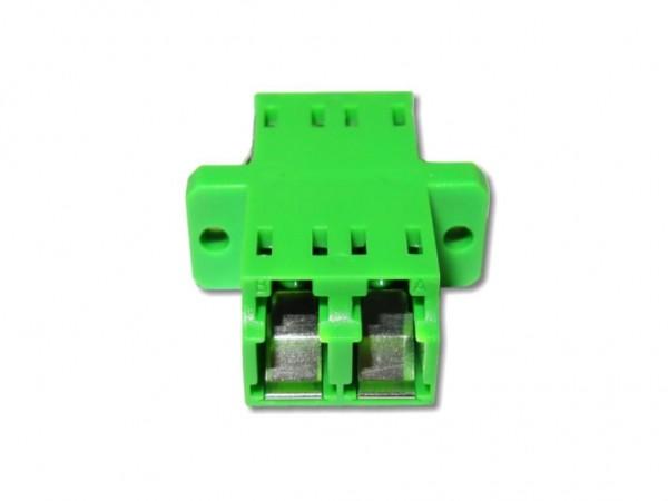 LC/APC duplex LWL Glasfaser-Kupplung singlemode mit internem Shutter