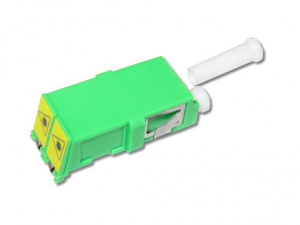 LC/APC duplex LWL Glasfaser-Kupplung singlemode mit externem Shutter