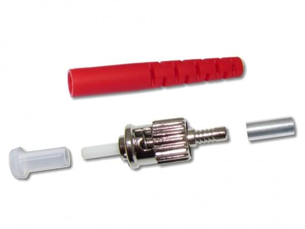 ST-Stecker multimode 3mm rot