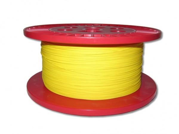 LWL Pigtailader 50/125µm OM2 trockene Kompaktader 0,9mm gelb
