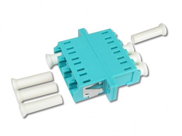 LC quad (4-fach) Kupplung multimode OM3
