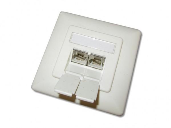 2xrj45 cat 6a dose f r kanaleinbau designf hig gt netstore der shop f r netzwerkprofis. Black Bedroom Furniture Sets. Home Design Ideas