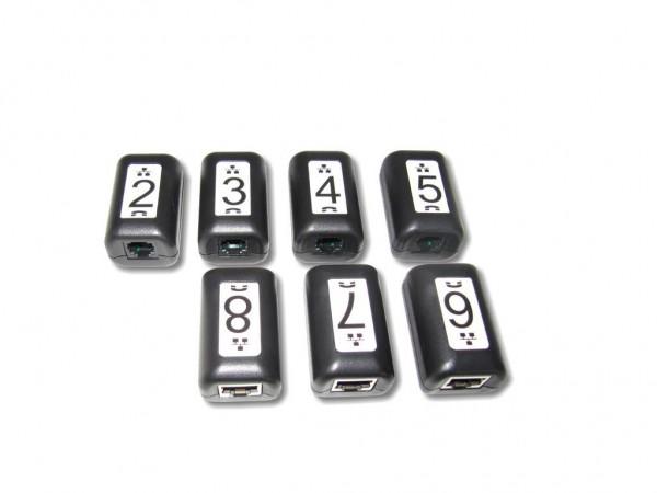 Link / Kabel Identifikatoren 7er Set #2-8 für Softing® Kabeltester