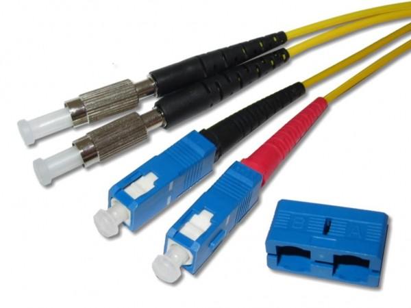 DIN-SC LWL duplex Patchkabel singlemode 9/125µm OS2