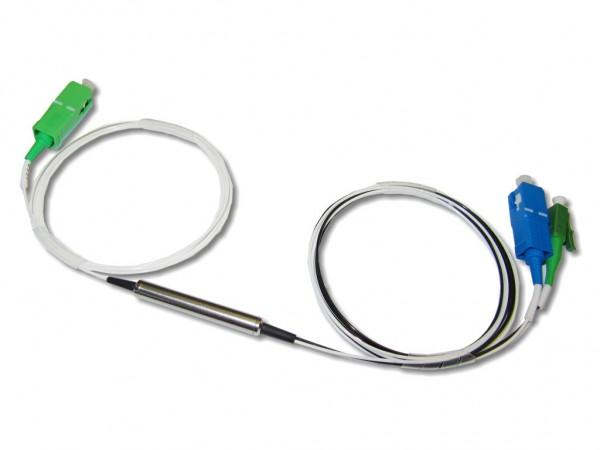 FWDM Filter LC/APC Com, SC 1310 TX/1490RX, SC/APC 1550 0.9mm 1m