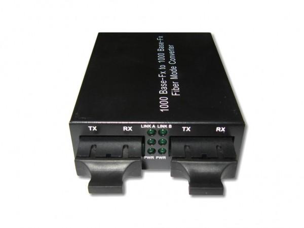 LWL Medienkonverter multimode 850nm / singlemode 1310nm, 10km, SC