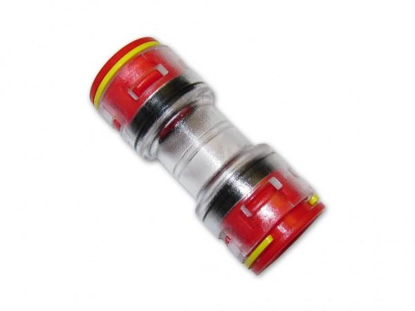 14mm Mikrorohrverbinder Doppelsteckmuffe innen 12mm mit Clips