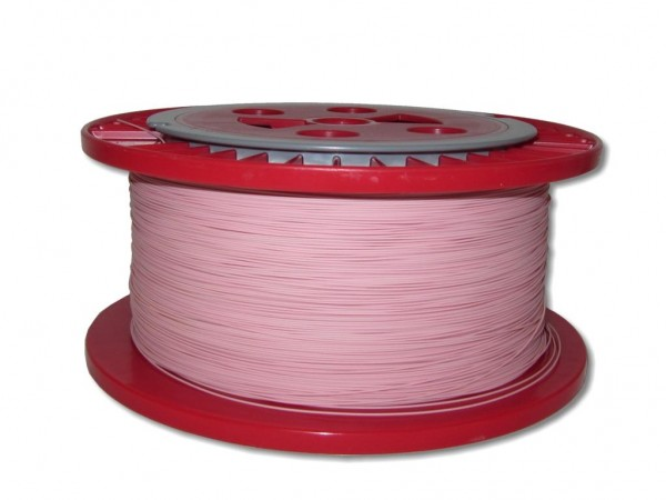 840m LWL Pigtailader 9/125µm OS2 trockene Kompaktader 0,9mm pink