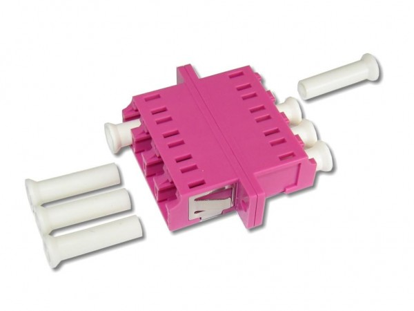 LC quad (4-fach) LWL Kupplung multimode OM4