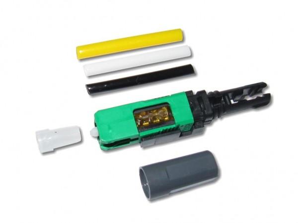 feldkonfektionierbarer LWL SC/APC 8° Stecker singlemode universal für 250µm und 0.9/2.0/3.0mm Kabel