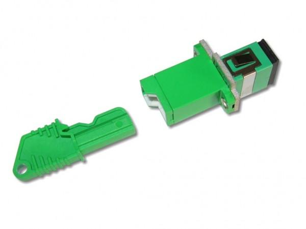 LSH/APC - SC (APC) simplex Kupplung
