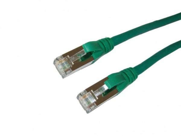 RJ45 S/FTP Patchkabel Cat.6A, 10 Gigabit, grün