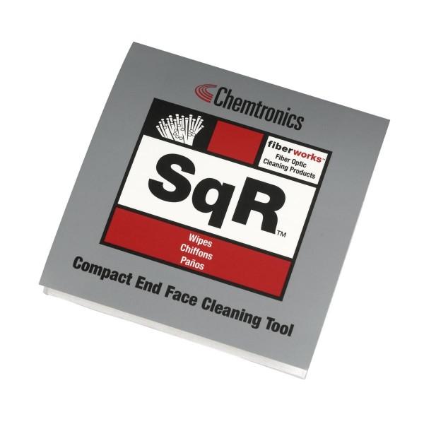 SqR Kit - Pad mit 10 gebundenen LWL Reinigungstüchern + Electro-Wash Reinigungsstift