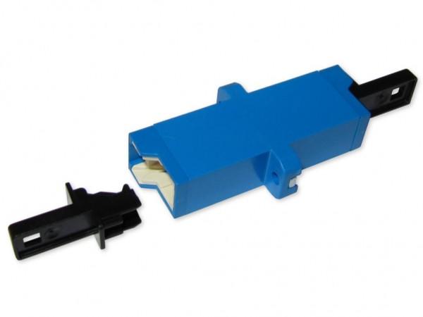 LSH (E-2000®) simplex LWL Kupplung singlemode blau (Fabr. Huber & Suhner)