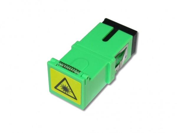 SC/APC-SC/APC simplex Kupplung singlemode Laserschutz Shutter ohne Flansch
